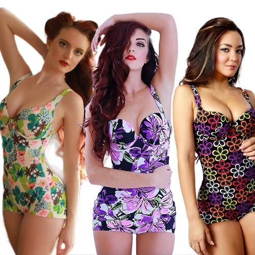 Image of Vedette Floral Swimsuits