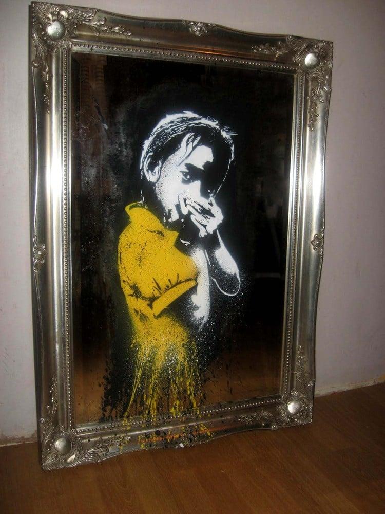 """Image of """"Secrets"""" - Original on Antique Mirror"""