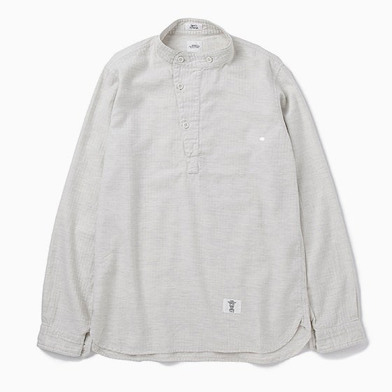 "Image of BEDWN ""Hubbard"" L/S M55 Pullover Shirt - WHITE"
