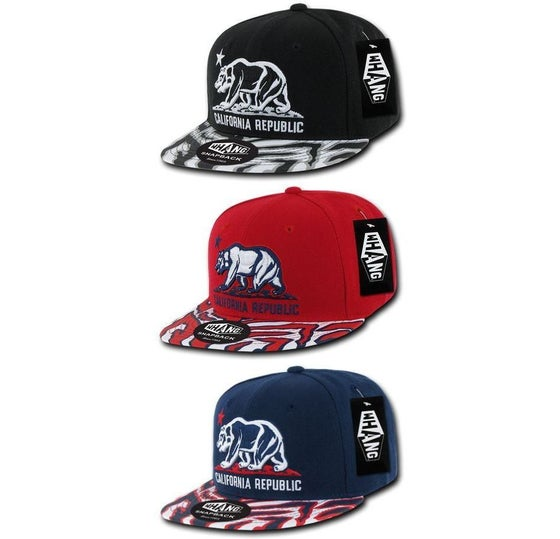 Image of Whang Ziger Cali Bear California Republic Snapback Hat