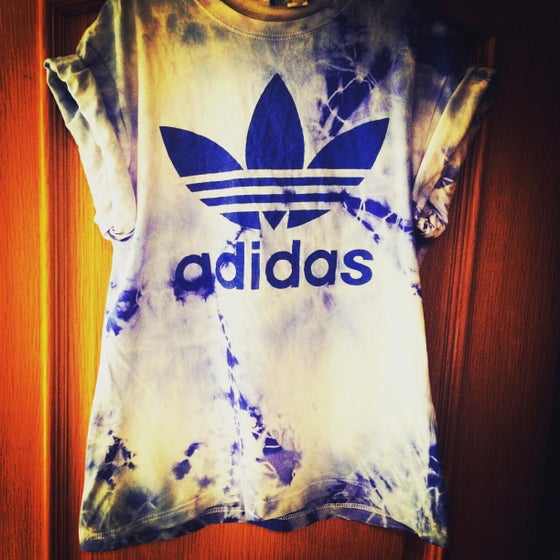Image of Blue Adidas tie dye