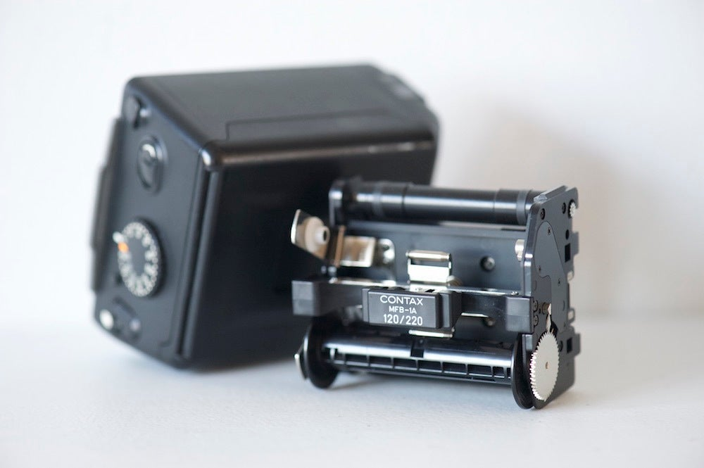 Image of Contax 645 film back + 120/220 insert   EX