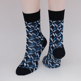 Image of Soft Merino Dress Socks - Silver Lining