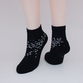 Image of Soft Cotton Cherry Blossum Ankle Socks - 2 pair -