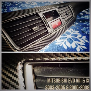 Image of Mitsubishi Lancer (and EVO) VIII & IX Carbon Fiber Dash Trim