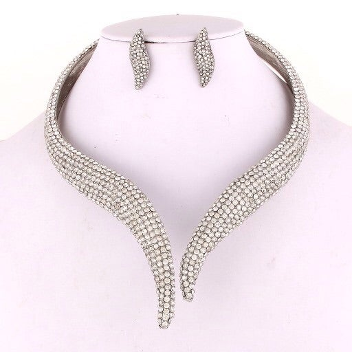 Image of Uri Open Design Choker (Crystal)