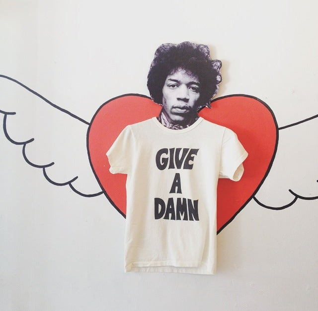 Image of Give A Damn Tshirt (white)