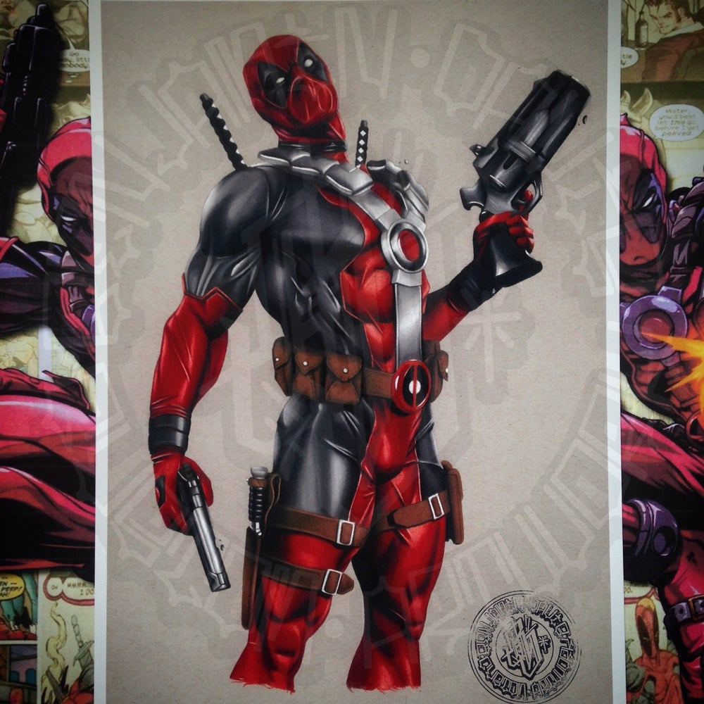 Image of Limited edition deadpool comic print