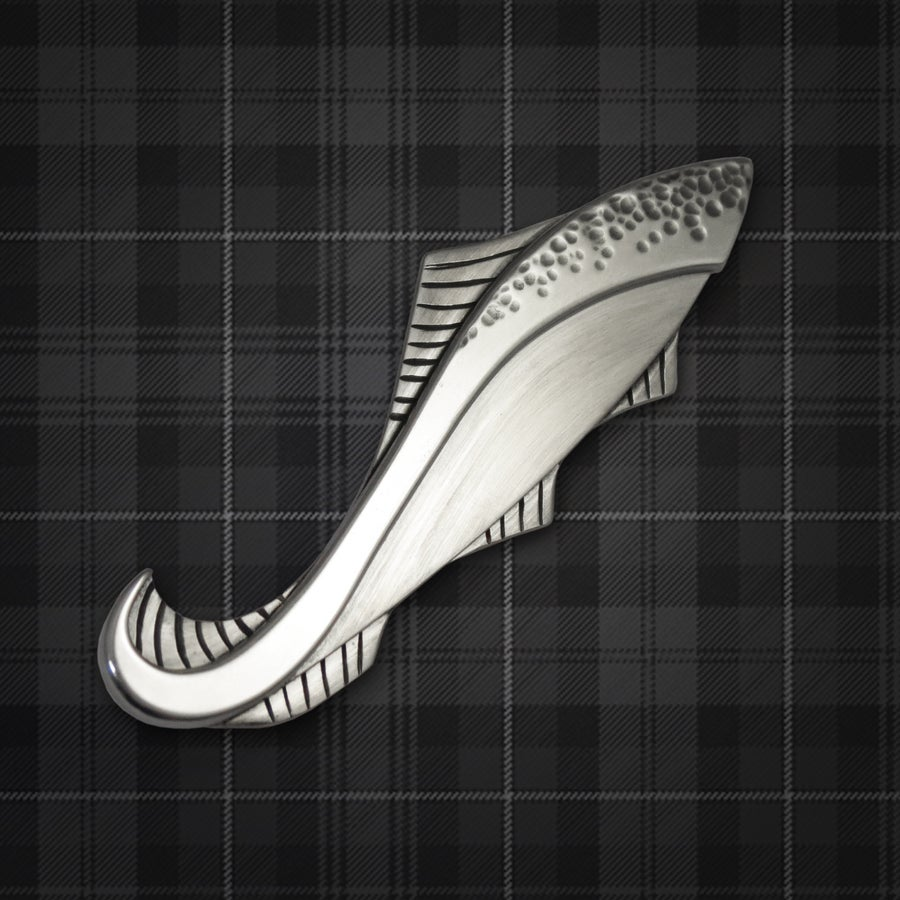 Image of Leaping Salmon Kilt Pin - made to order