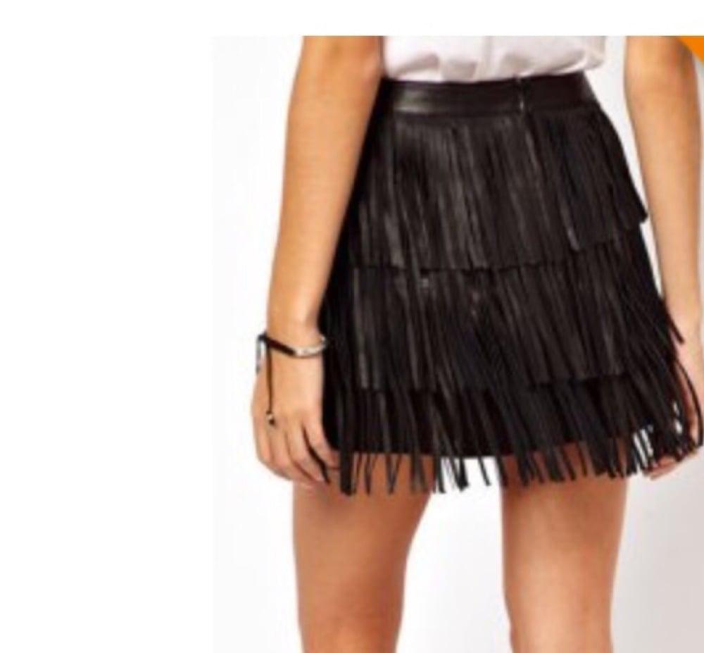 Image of Fringe Skirt