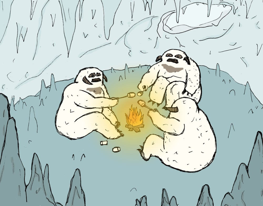 "Image of ""Wampas Roasting 'Round an Open Fire"""