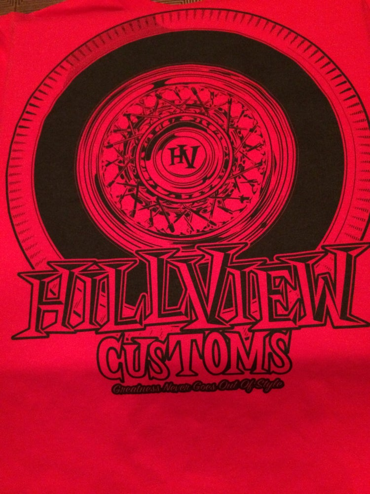 "Image of Hillview Keepin It ""True"" Men's Shirt in RED (100% cotton)"