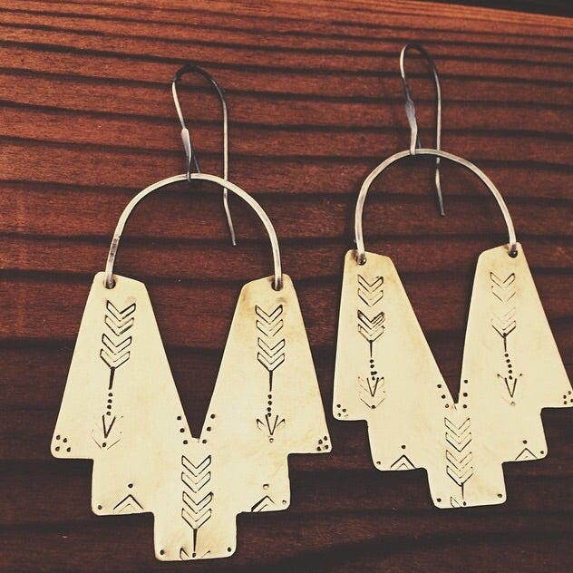 "Image of ""Bow + Arrow"" Demi Earrings"