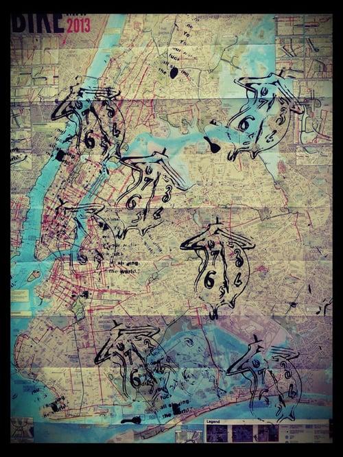 Image of Original Silk Screen. Salvador Dali. Persistence of memory.