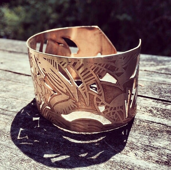 "Image of Brass ""Jungle"" Cuff"