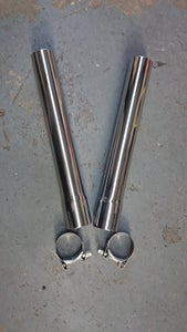 "Image of EXHAUST EXTENSIONS (Pair) 12"" LONG x 45MM O.D. STAINLESS STEEL"