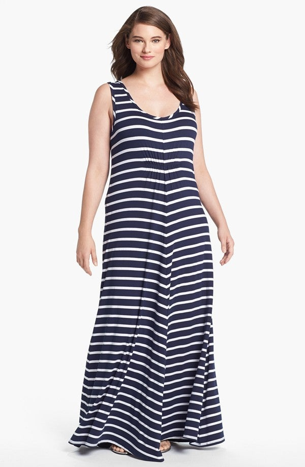 Image of LAmade Stripe Jersey Maxi Dress