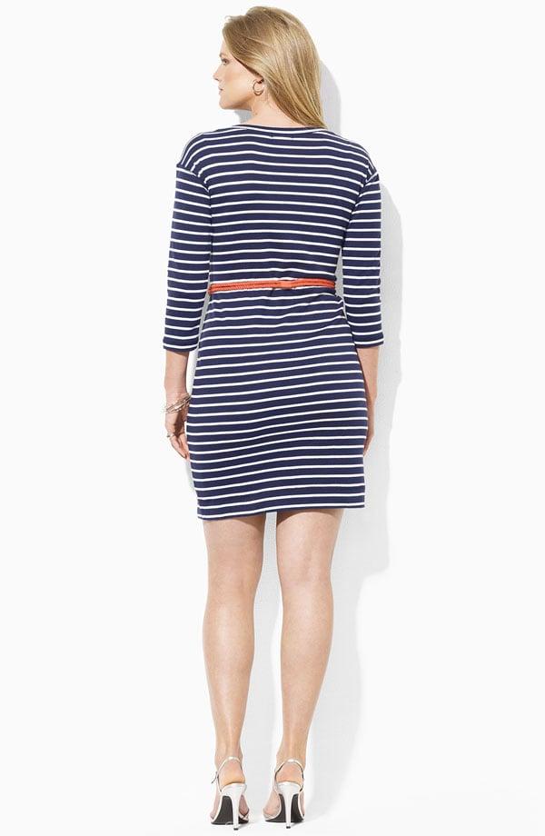 Image of Ralph Lauren Stripe Knit Sheath Dress