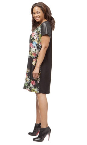 Image of Single Winter Floral Shift Dress