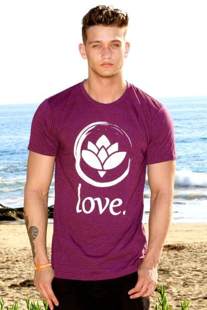 Image of 'Love.' First Edition T-Shirt (Cranberry)