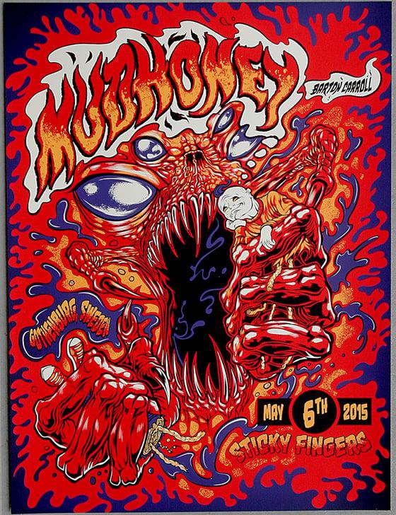 Image of MUDHONEY w/Barton Carrol Gig Poster