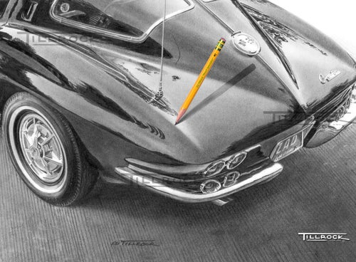 "Image of ""1963 Corvette Sting Ray"" 11x17 print"