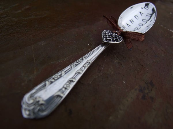 Personalised Vintage Silverplate Teaspoon Large - Laura Pettifar Designs