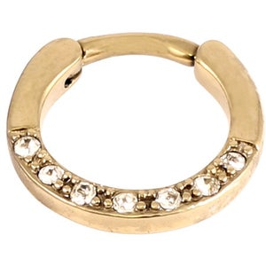 Image of Gold Septum Clicker - Clear Gems 1.2mm