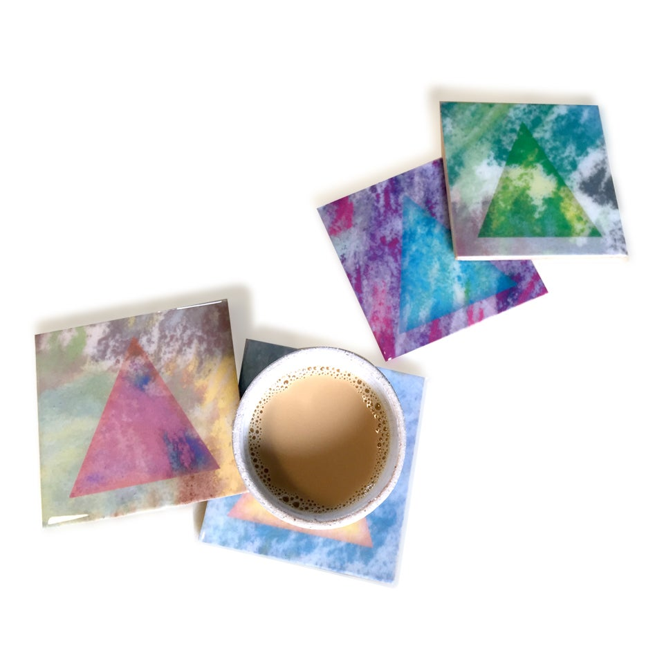 Image of Pastel Triangle Coasters