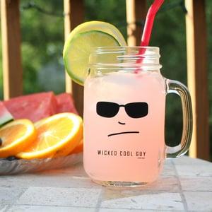 Image of Mason Jar Glasses with Handle