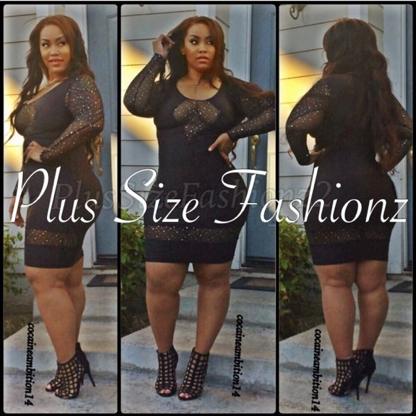 Black Stargaze - Plus Size Fashionz