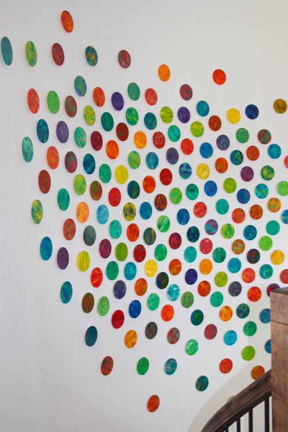 Image of 'LYRICAL CIRCLES' | Circle Art | Wall Art Decor | Home Decor Wall Hanging