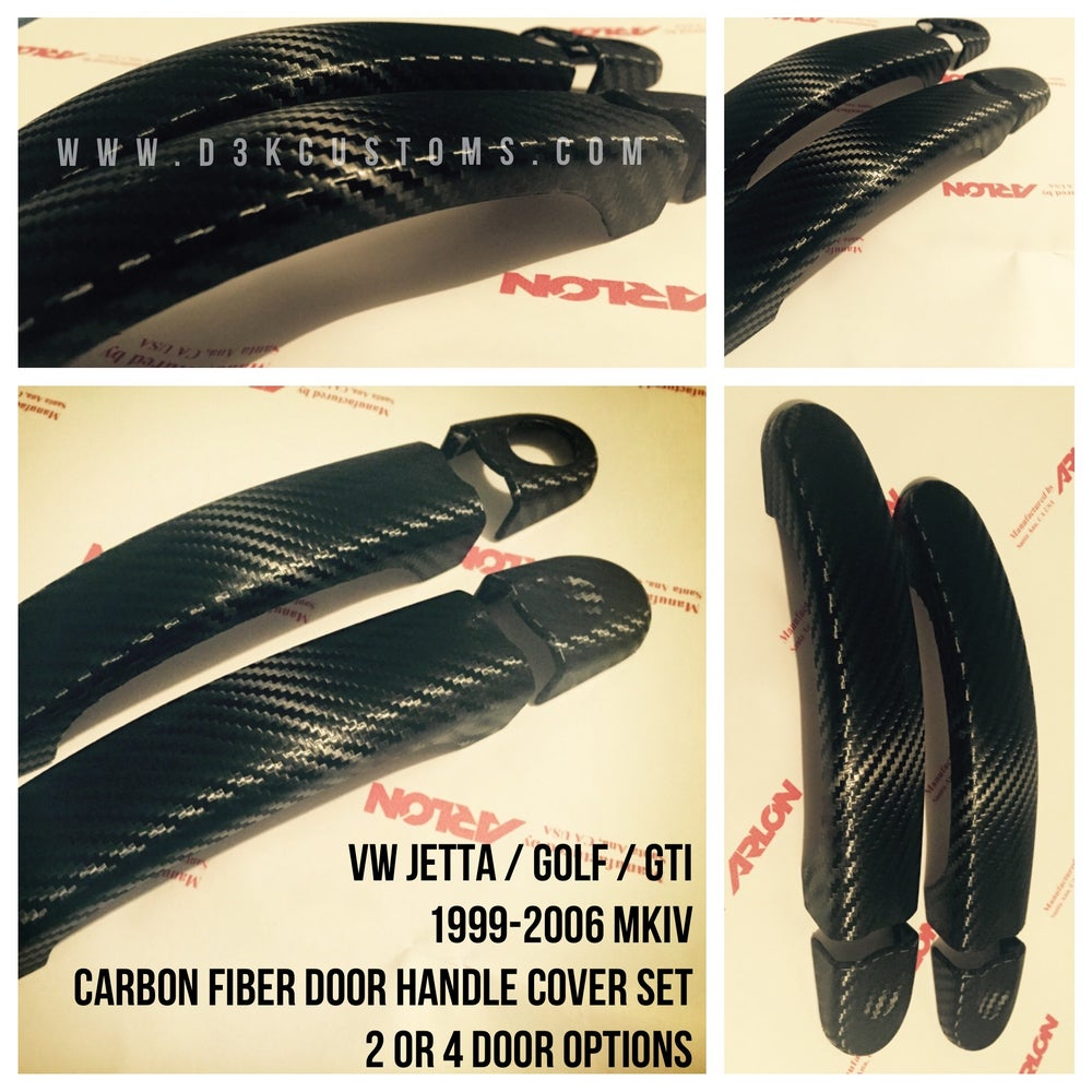 Image of VW Jetta / Golf / GTI / R32 Carbon Fiber Exterior Carbon Door Handle Covers