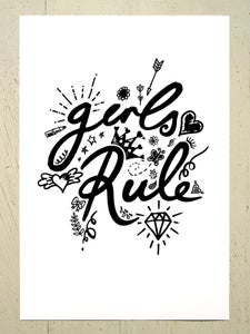 Image of Girls Rule art print - Black