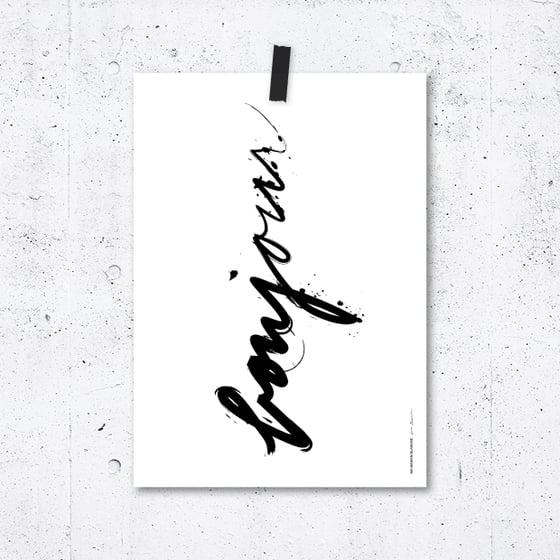 Image of Poster Bonjour
