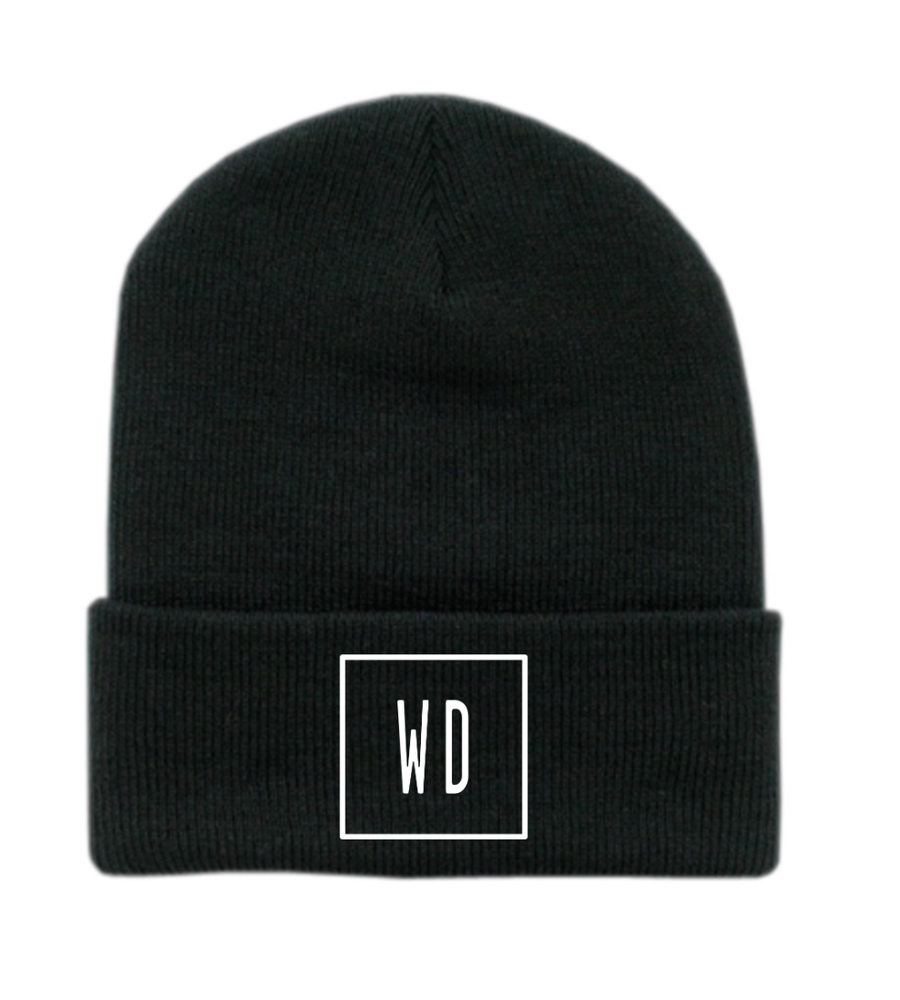 """Image of """"WD"""" Beanie"""
