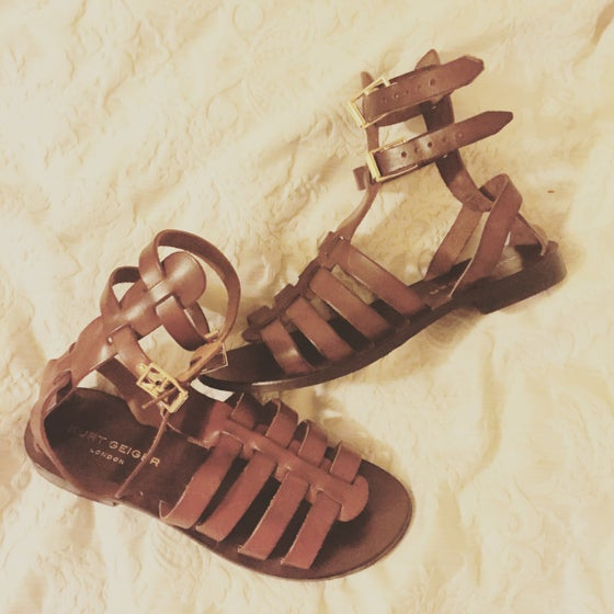 Image of Leather Gladiator Sandals Kurt Geiger London