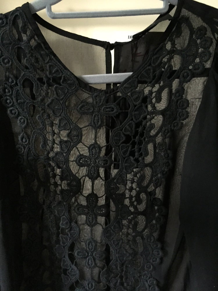 Image of Black Lace Blouse