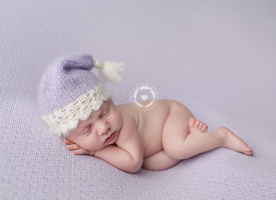 Image of Tassel Hat with Lace and Scallops