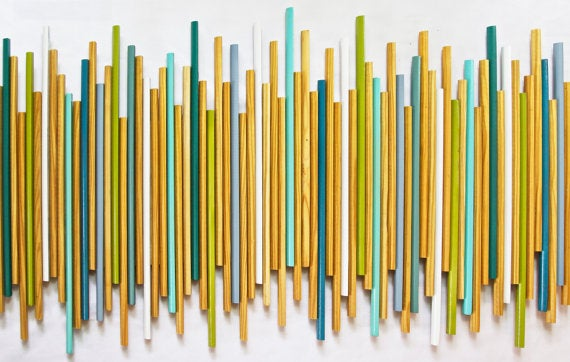 Image of 'STICKS IN NATURAL' | HUGE Wood Wall Stick Wall Sculpture | Abstract Art Installation