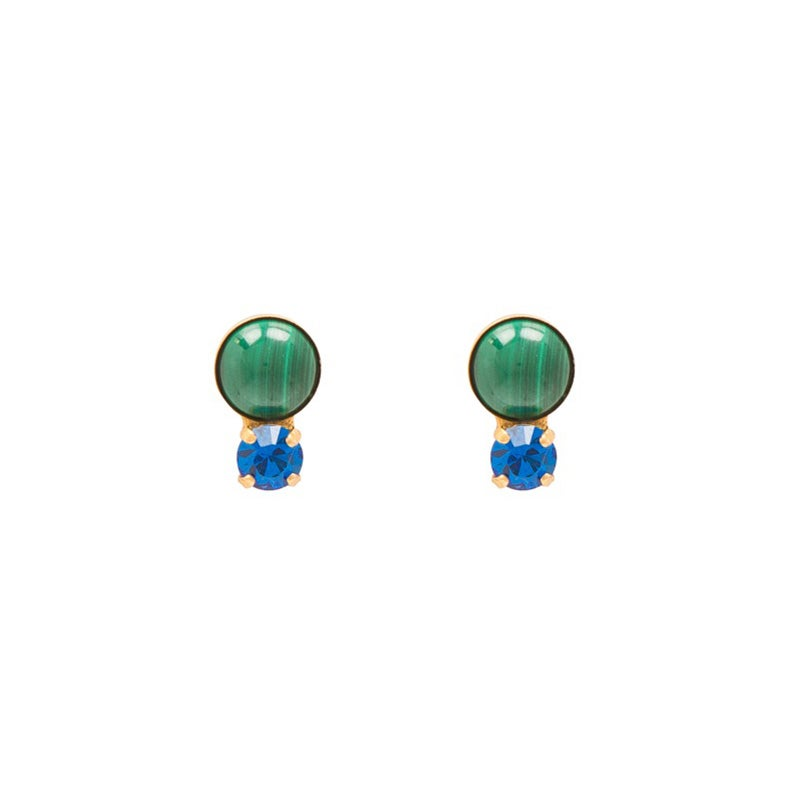 Image of Malachite Stud Earrings
