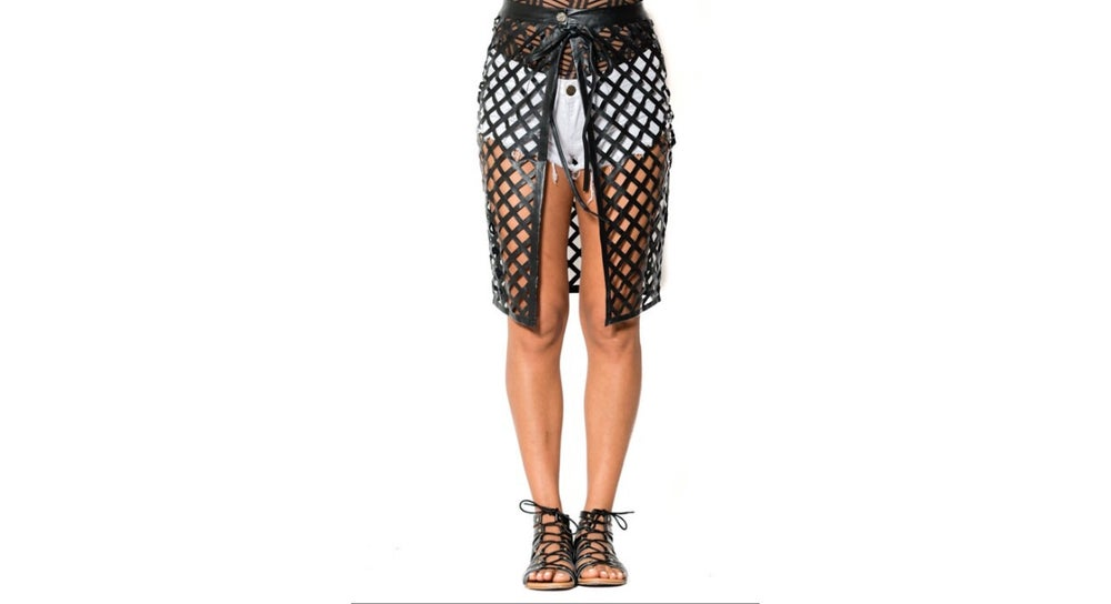 Image of Cage Wrap Skirt