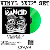 Image of Hooligans United A Tribute To Rancid Vinyl (Green)