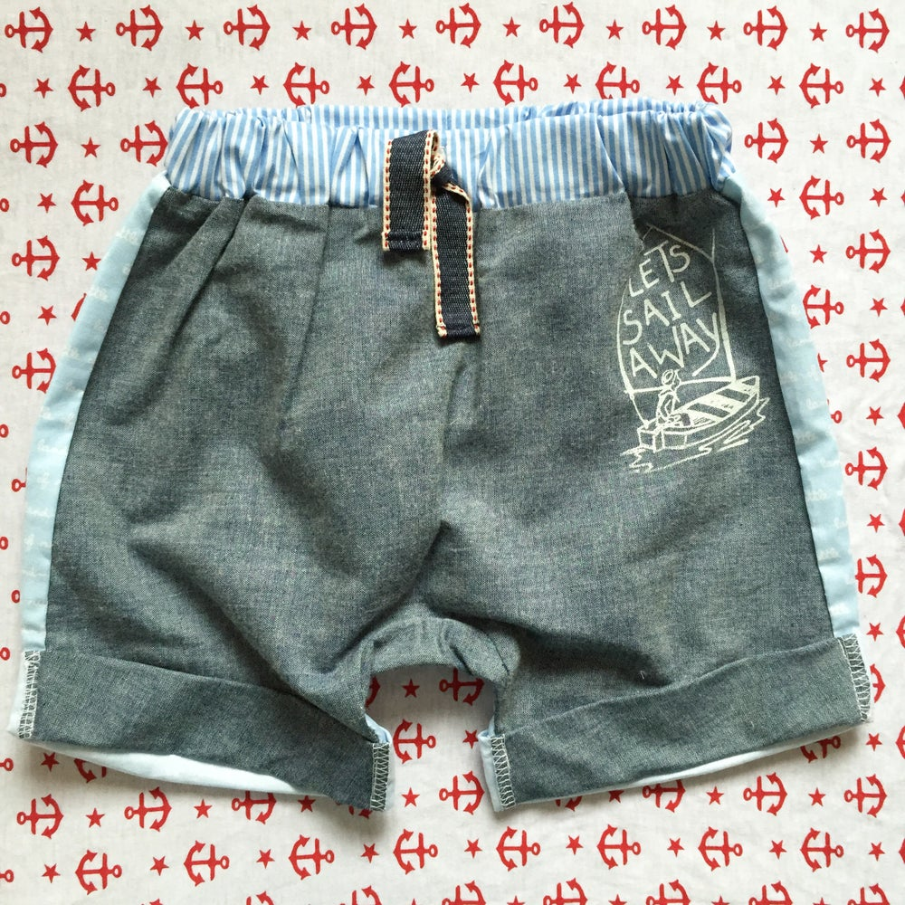 Image of Hello sailor boy shorts size 3