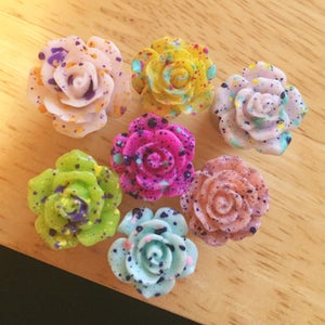 Image of Splatter Rose Plugs (sizes 0g-1 1/2)