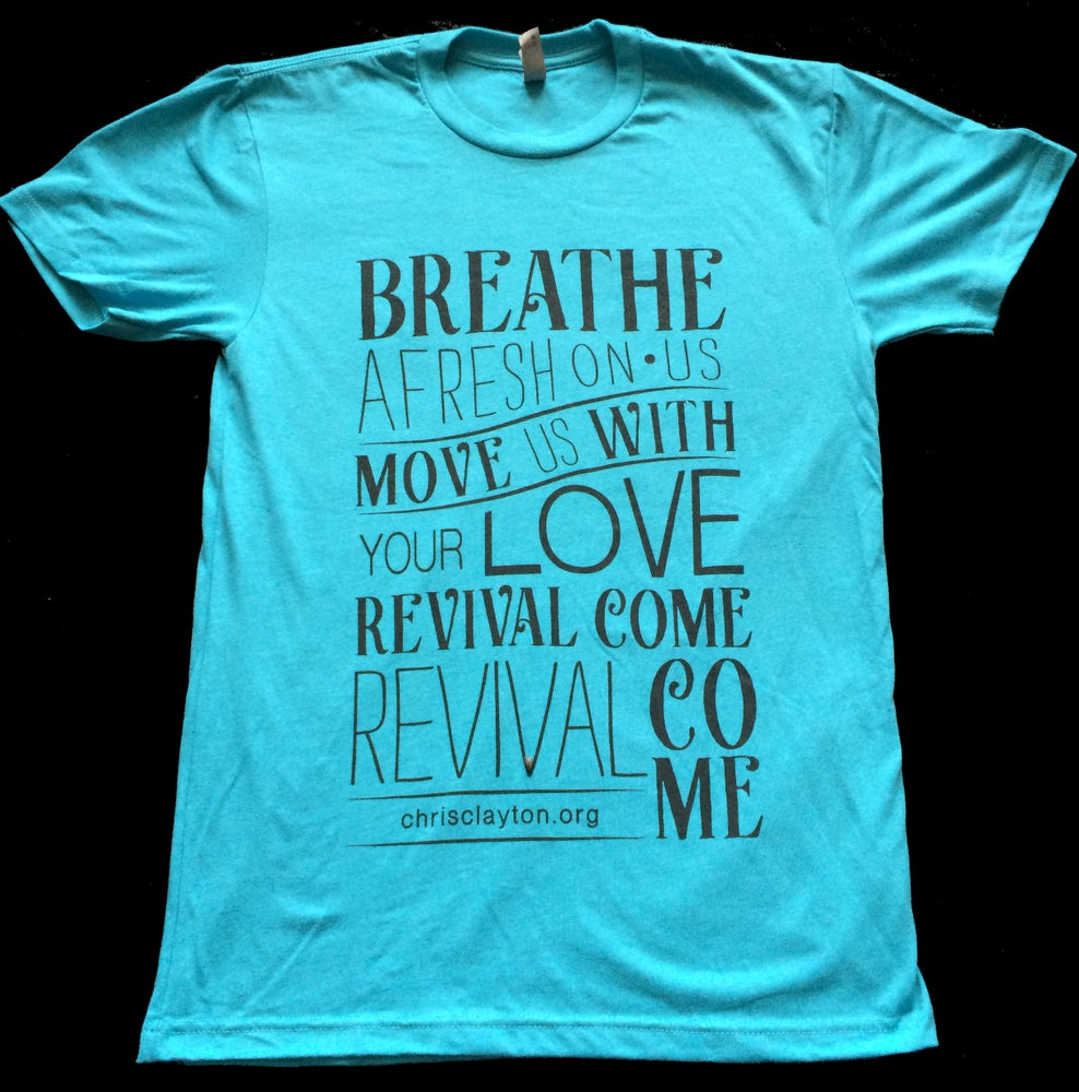 "Image of ""Revival Come"" T-Shirt (Blue)"