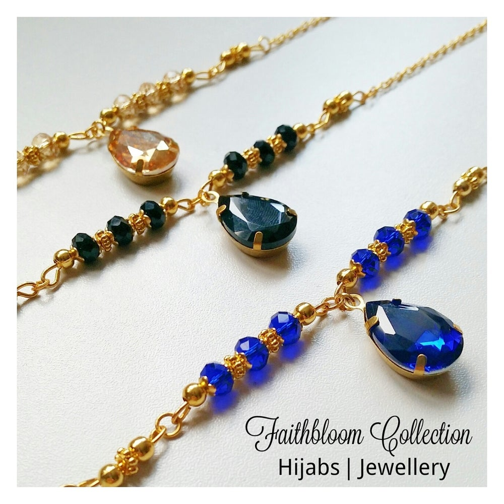 Image of Aisha Head Piece and Hand Chain Sets (6 Colour Options)