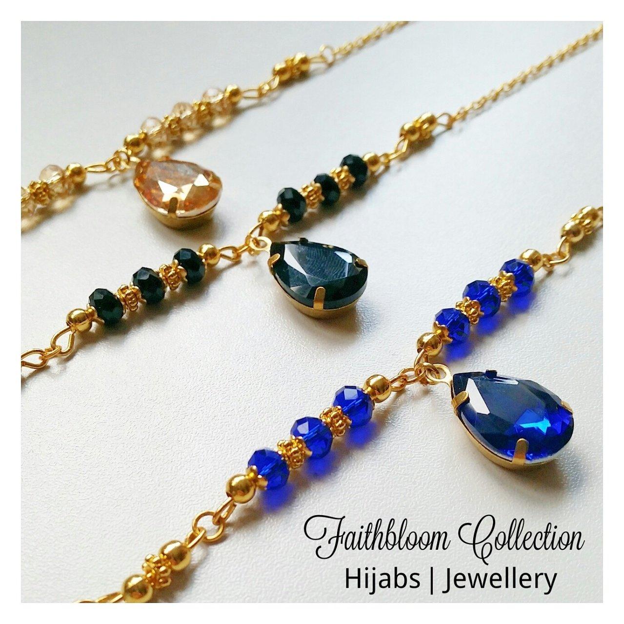 Image of Aisha Head Piece and Hand Chain Sets (6 Colour Options)