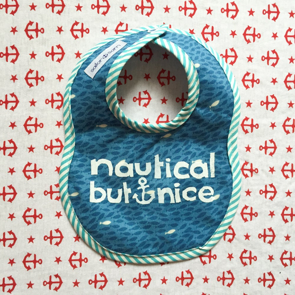 Image of first mate bibs -large