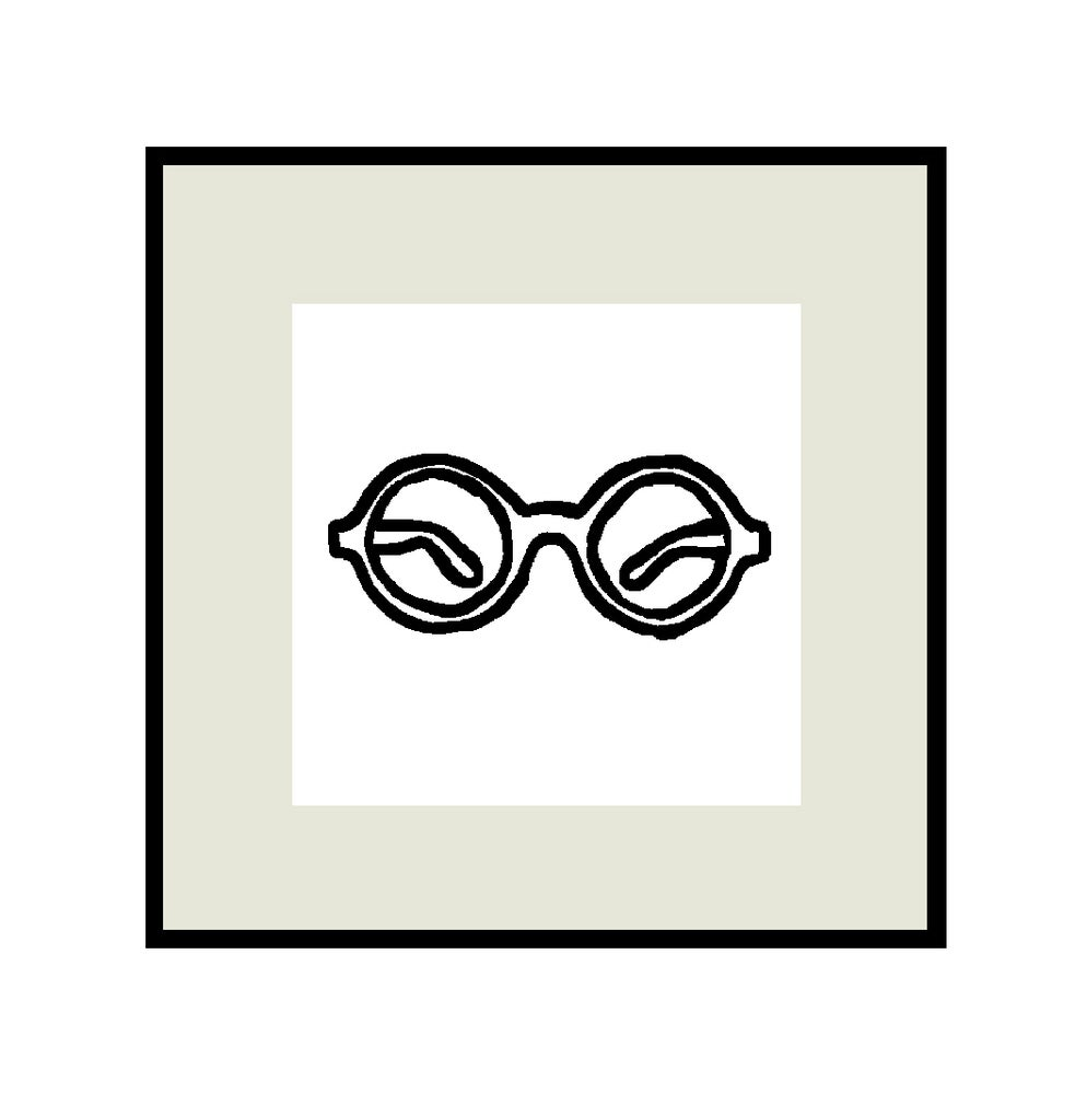 Image of SPECTACLES OUTLINE PRINT